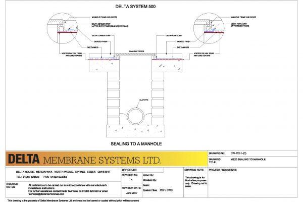 Delta MS20 Sealing Detail to Manhole
