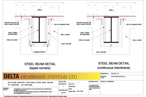 Steel Beam Detail - A