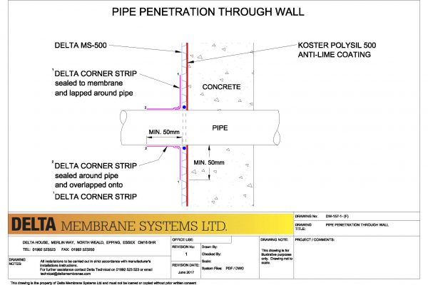 Pipe Penetration - Delta MS
