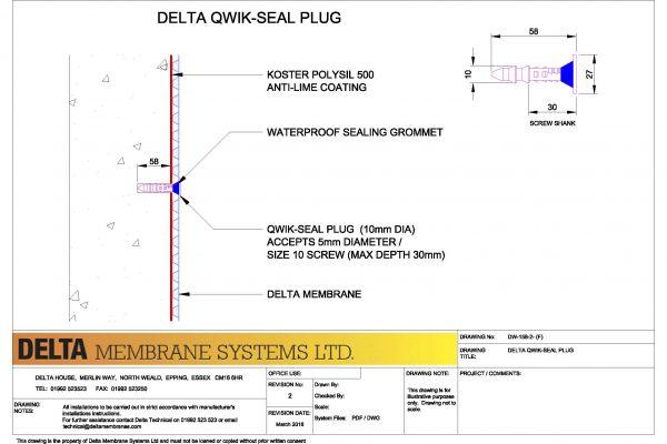 Delta Qwik Seal Plug