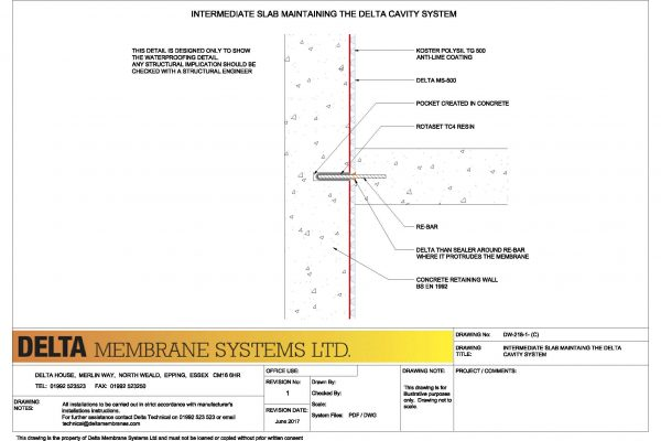 Intermediate Slab - Continuity Detail