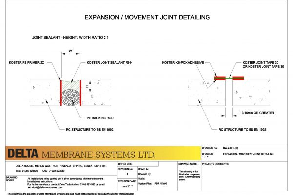Expansion / Movement Joint Sealing