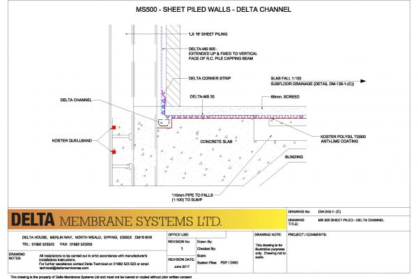 MS500 to Sheet Piled - Delta Channel