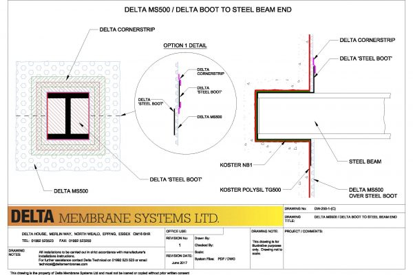 Delta MS500 / Delta Boot to Steel Beam End