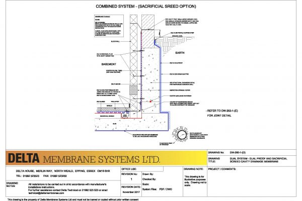 Dual System - Dualproof and Sacrificial Screed Cavity Drainage Memebrane