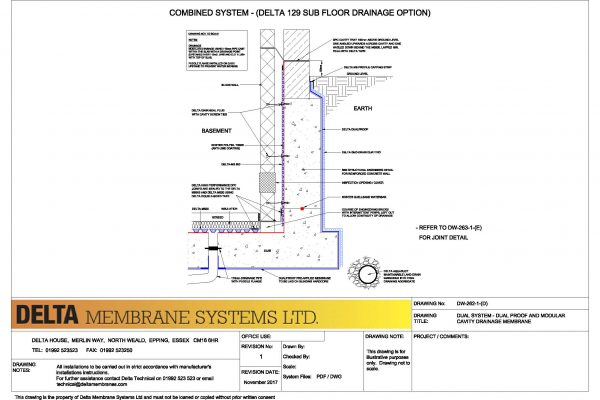 Dual System - Dual Proof and Modular Cavity Drainage Membrane