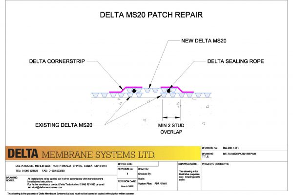 Delta MS20 Patch Repair
