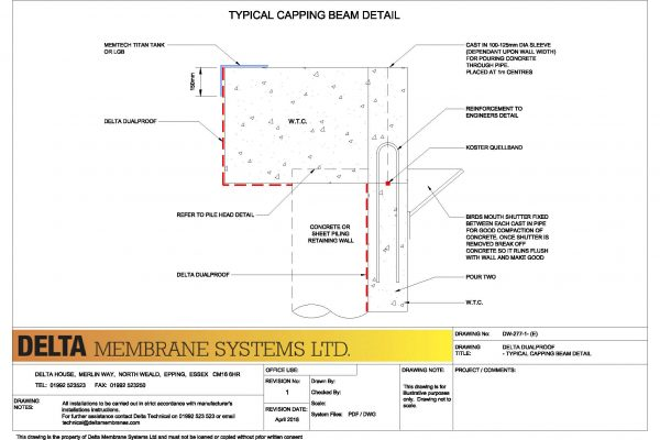 Dualproof - Typical Capping Beam Detail