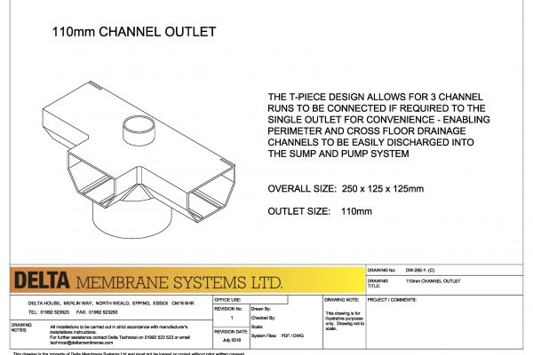 110mm Channel Outlet