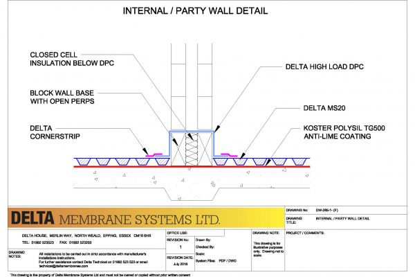Internal / Party Wall Detail