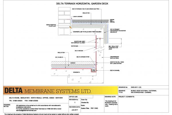 Buried Roof - Internal / External - Delta Channel