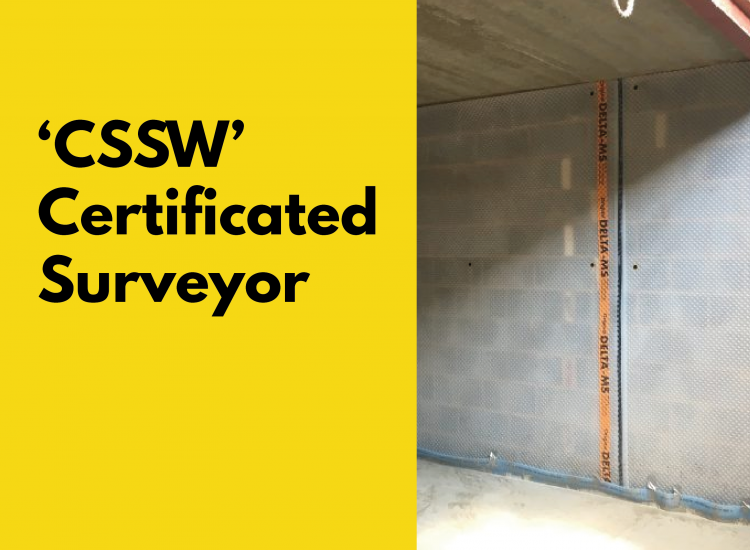 'CSSW' Certificated Surveyor in Structural Waterproofing Training