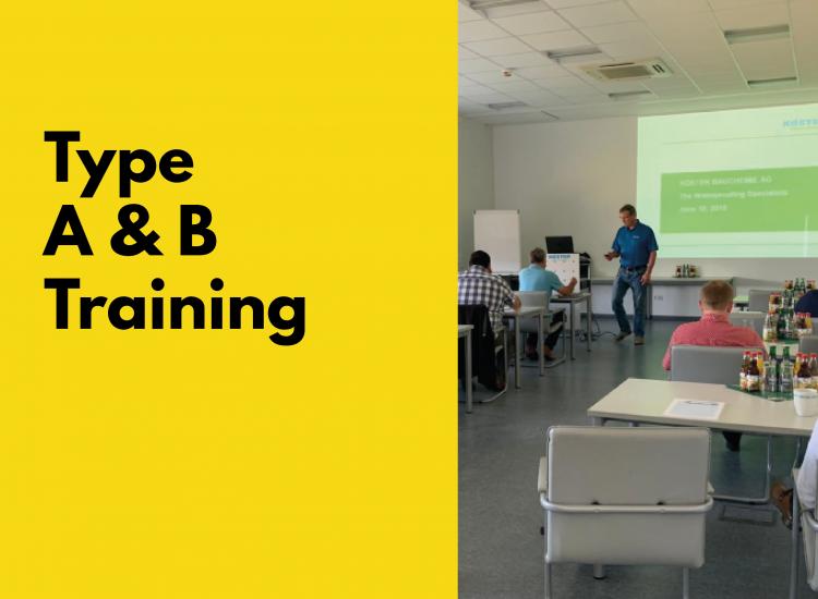 Type A & B Waterproofing Training