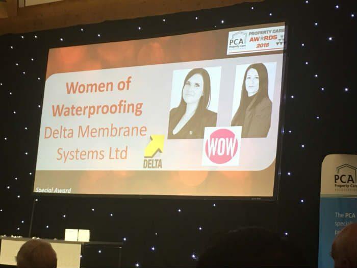 Women of Waterproofing win PCA Best Practice Award
