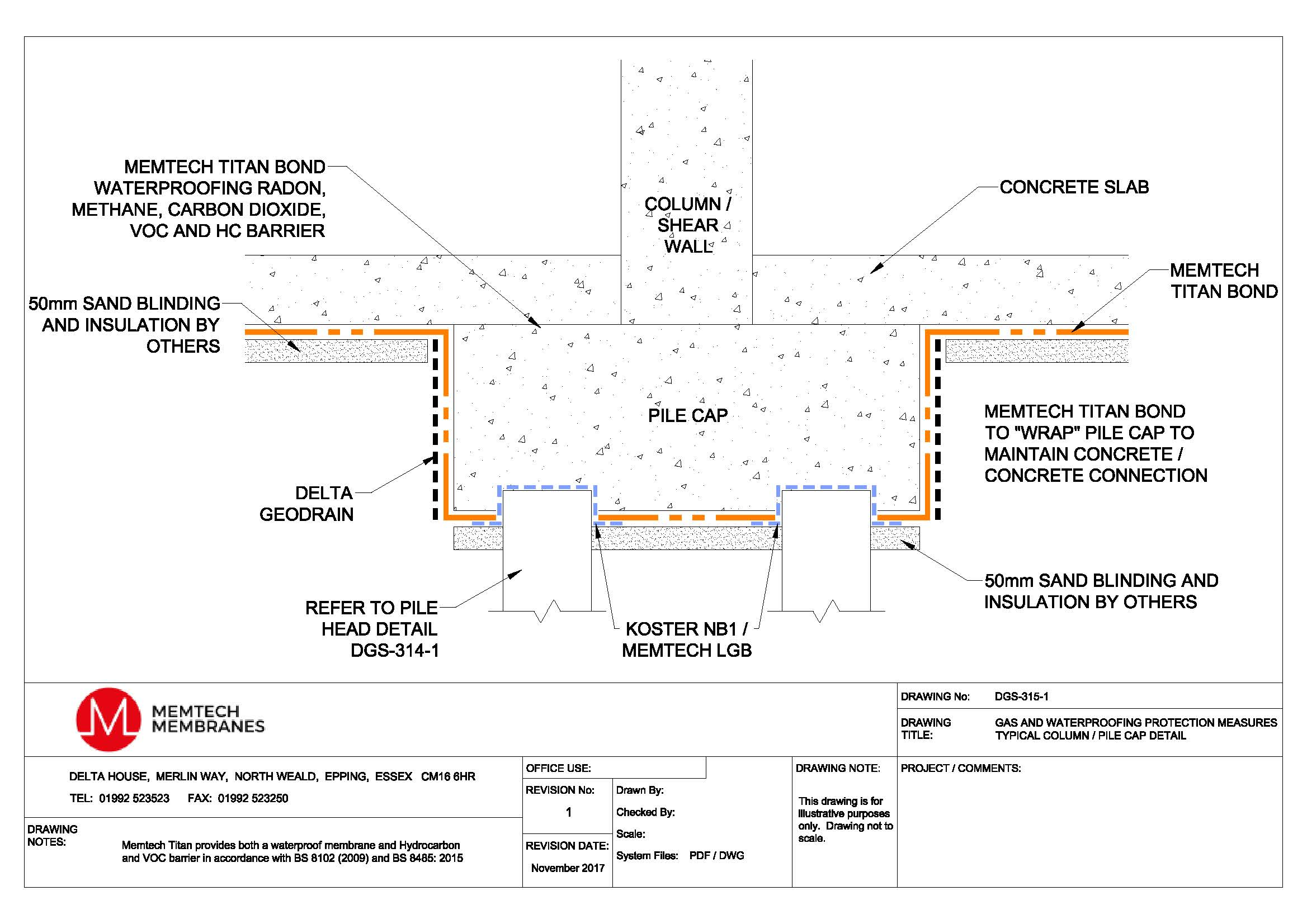 Technical Drawings Ground Gas Protection Systems Delta Membranes