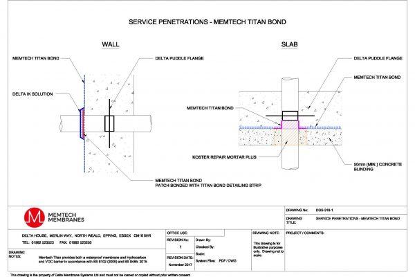 Memtech - Service Penetrations - Memtech Titan Bond
