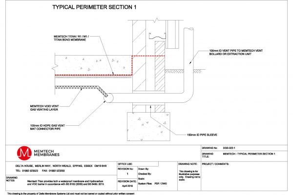 Memtech - Typical Perimeter Section 1