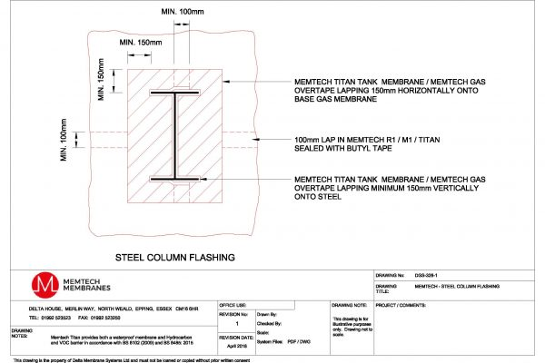 Memtech - Steel Column Flashing