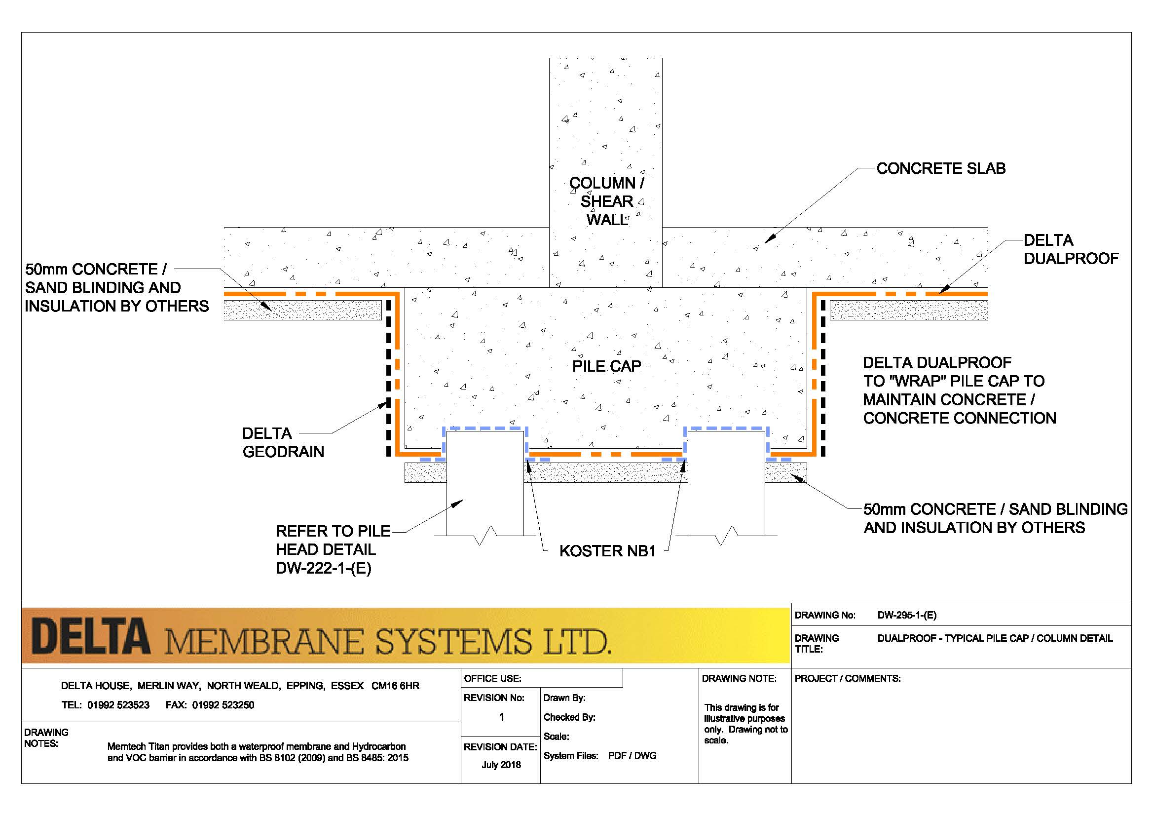 Technical Drawings - DualProof - Delta Membranes