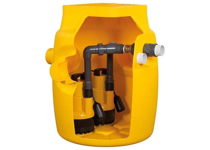 Dual V4 Sump Pump for Basement and Cellar Drainage