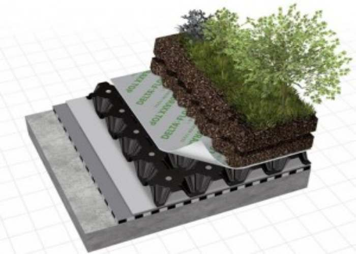 Floraxx Top – External Drainage Membrane suitable for Green Roofs