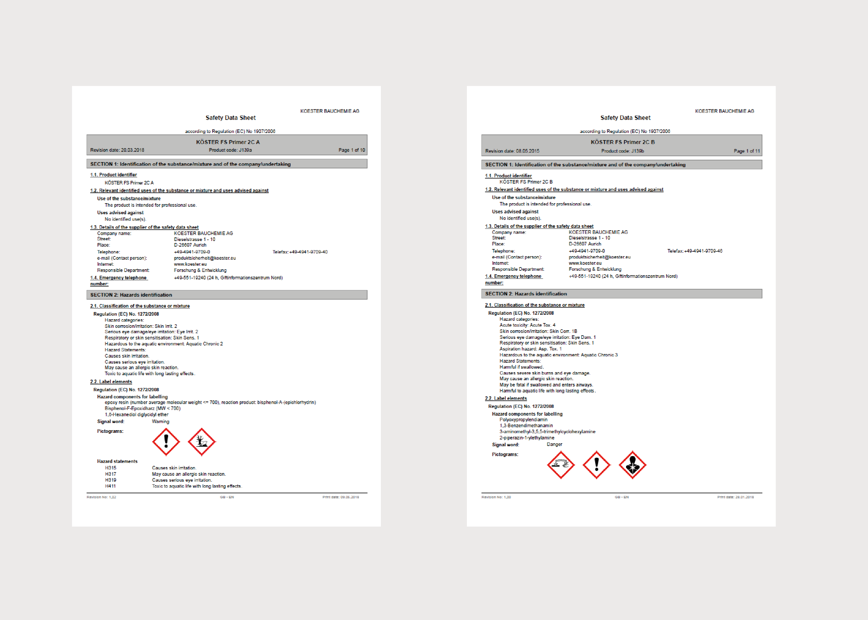 Koster Joint Sealing MSDS