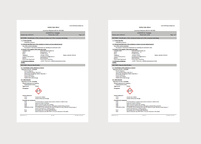 Koster Self Levelling/Underlayments MSDS