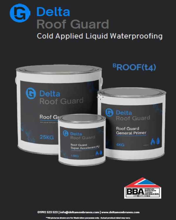 Delta Roof Guard - Cold Applied Liquid Waterproofing