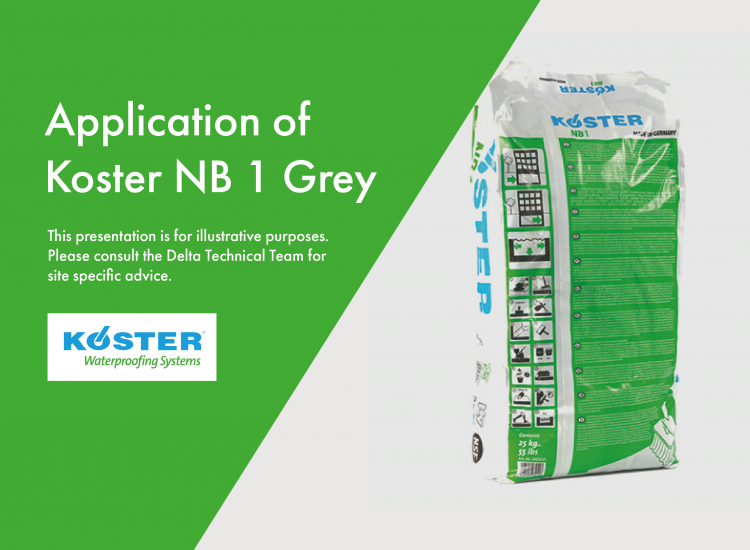 Application of Koster NB 1 Grey