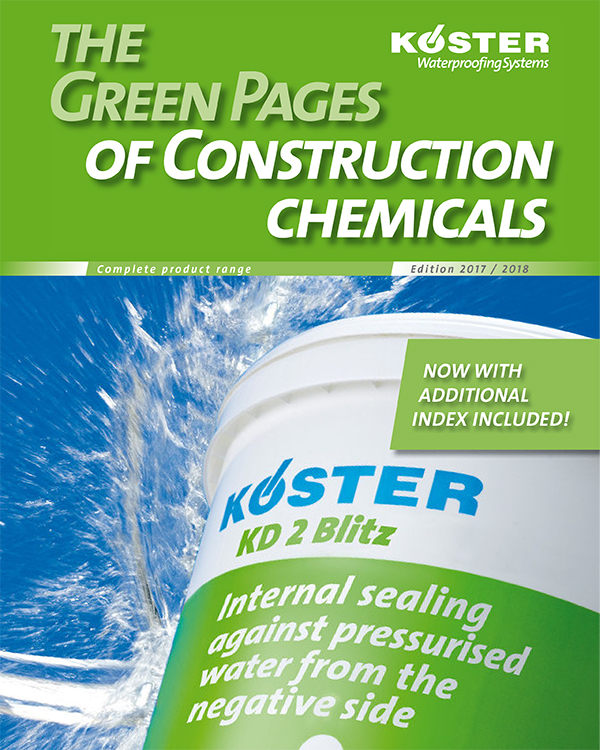 Koster Green Pages of Construction Chemicals
