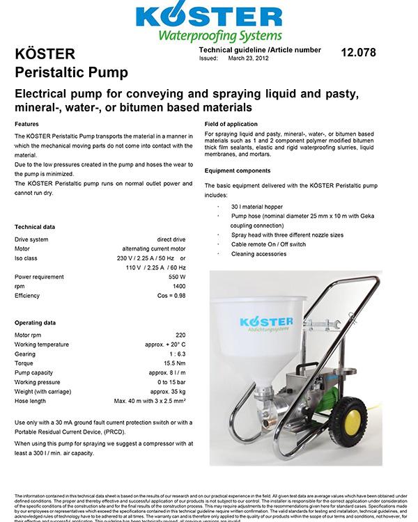 Koster Peristaltic Pump