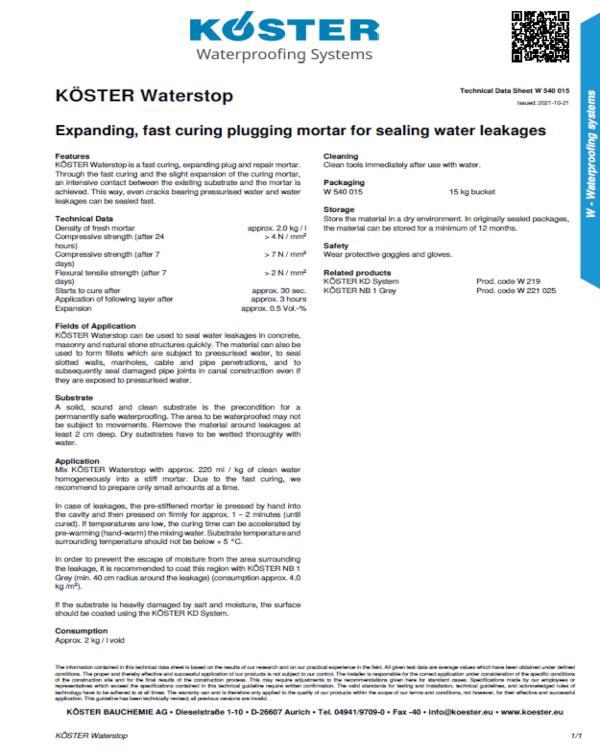 Koster Waterstop