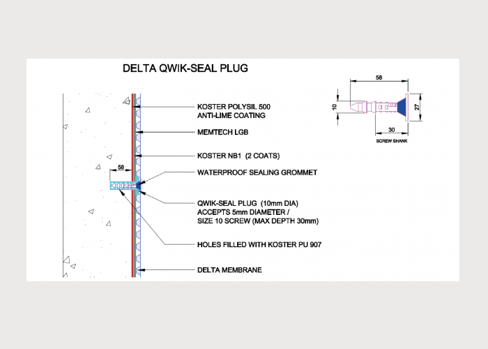 Technical Drawings – Combination Ground Gas Protection & Waterproofing