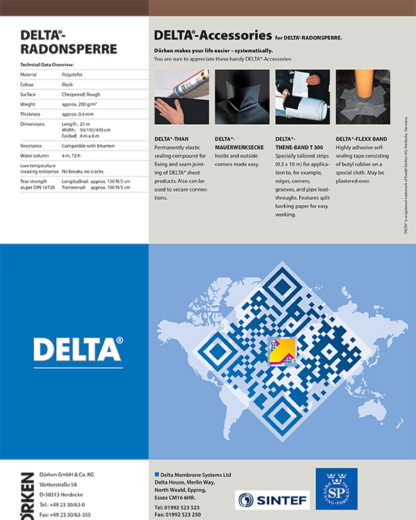 Delta Gas Barrier System (Radonsperre)