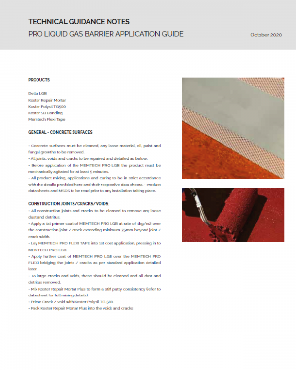 Pro Liquid Gas Barrier Application Guide
