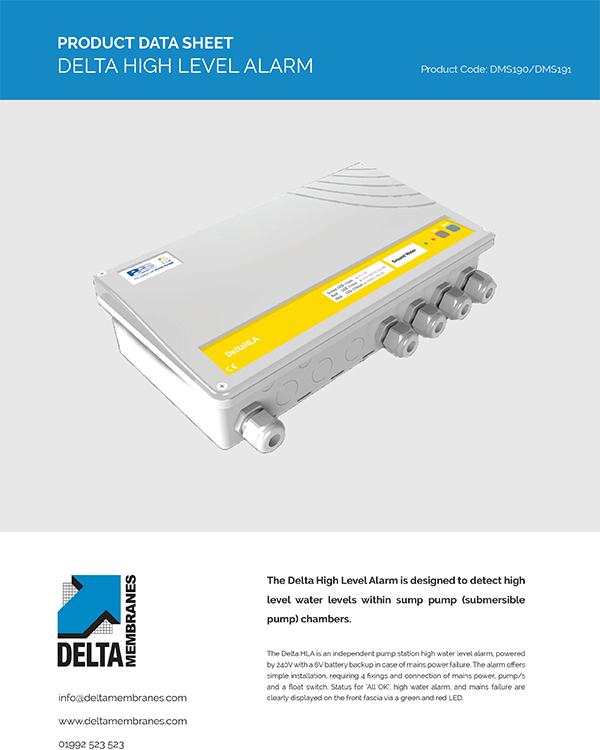 Delta HLA High Level Water Alarm