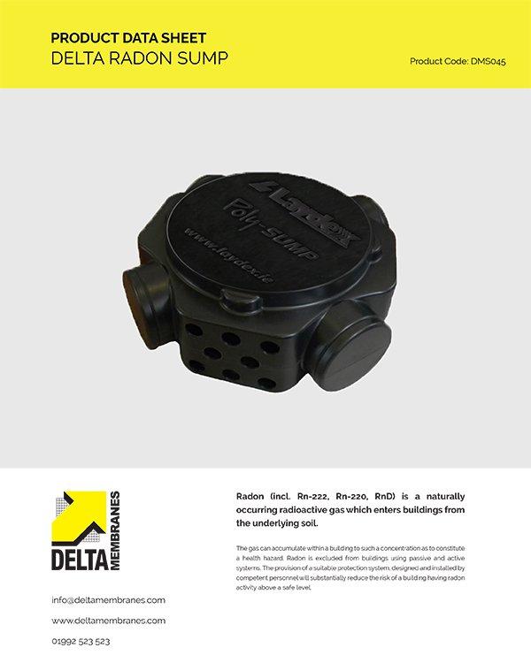 Delta Radon Sump