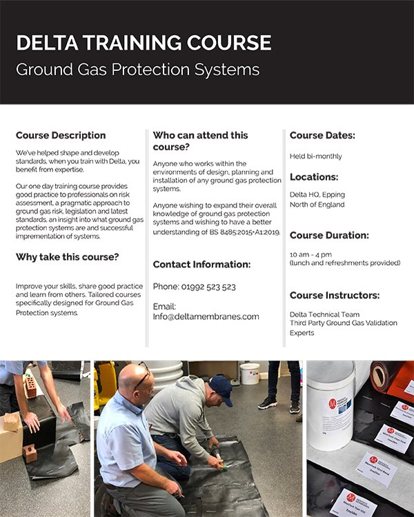 Ground Gas Protection Course