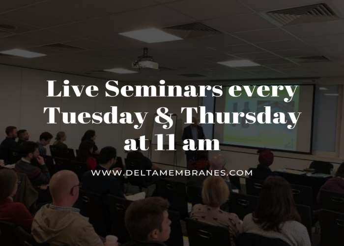Free – Live – Structural Waterproofing Seminars