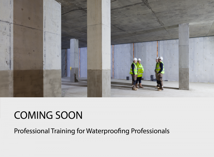 COMING SOON - Professional Training for waterproofing professionals