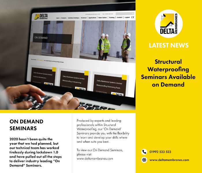 Structural Waterproofing Seminars On Demand