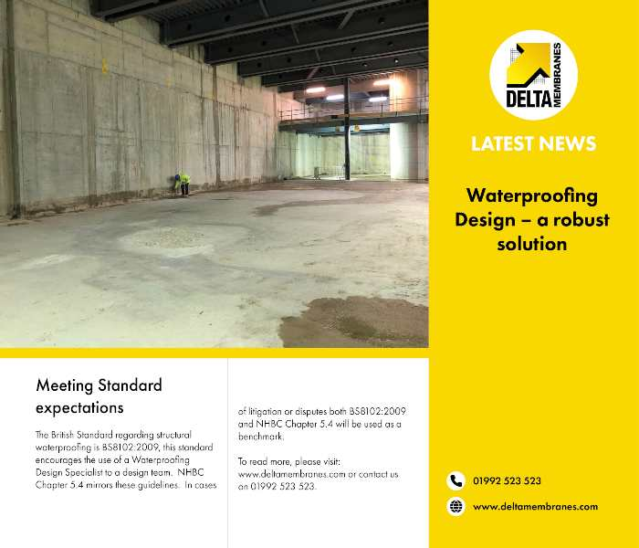 Waterproofing Design – a robust solution