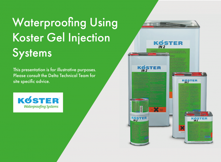Waterproofing using Koster Gel Injection Systems