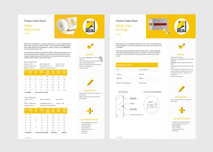 Delta MS Fire Retardant Product Data Sheets