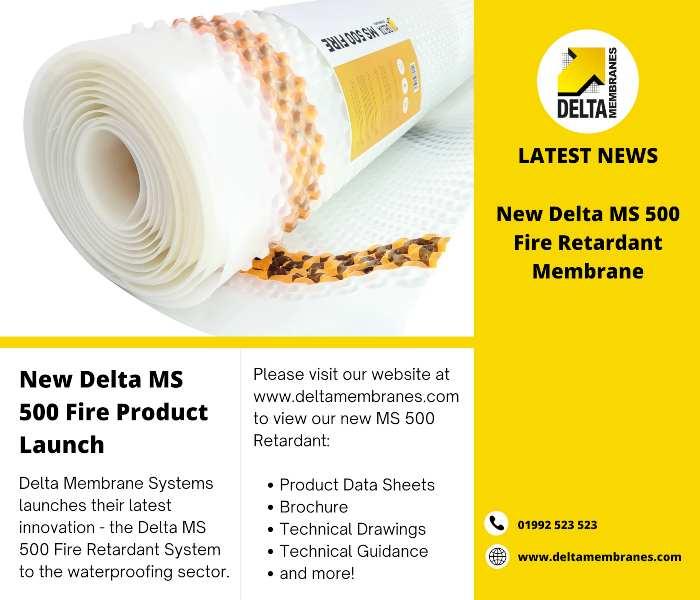 New Delta MS 500 Fire Retardant System
