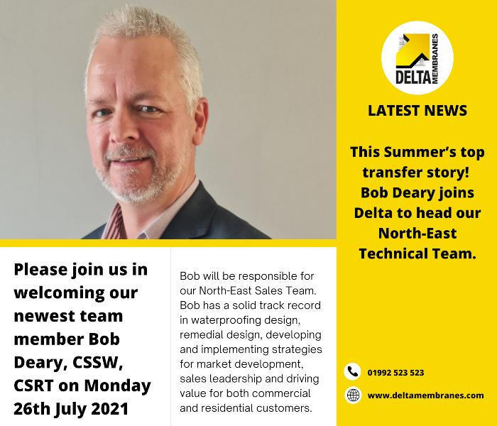 Delta Welcomes Technical Manager, Bob Deary