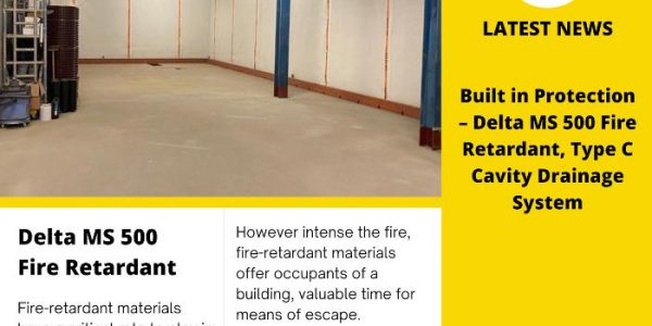 Built in Protection – Type C Cavity Drainage System